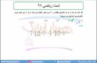 جلسه 25 فیزیک یازدهم- الکتریسته ساکن تست ریاضی 98- مدرس محمد پوررضا