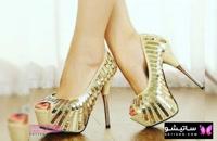 مدل کفش مجلسی طلایی