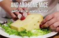تزیین تربچه به شکل موش | فیلم آشپزی