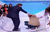 زمین خوردن زن