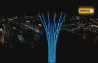 برج بایترک در آستانه، درخت صنوبری که نماد قزاقستان است - بوکینگ پرشیا
