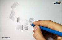 پنج روش کنترل فشار دست در طراحی  با مداد - روش سوم