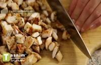 ساندویچ کربنارای مرغ | فیلم آشپزی