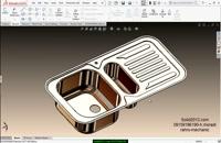فیلم آموزش سالیدورک طراحی مدل سینک با solidworks