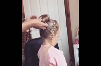 اموزش مدل مو دخترانه | آموزش