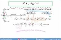 جلسه 47 فیزیک یازدهم - میدان الکتریکی 17 تست ریاضی خ 89 - مدرس محمد پوررضا