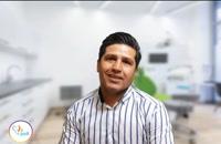 کاشت ایمپلنت دندان - فیلم رضایتمندی بیمار آقای  رجبی