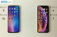 مقایسه و بررسی گوشی های Mi 9  و  iPhone x max
