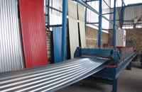 ساخت دستگاه تولید ورق کرکره سینوسی (شیروانی) - پارس رول فرم