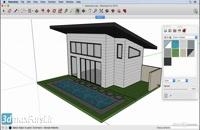 آموزش تصویری ویرایش متریال اسکچاپ SketchUp Edit material Mac
