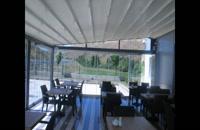 حقانی09380039391-سقف پارچه ای حیاط رستوران- سقف چادری تراس رستوران