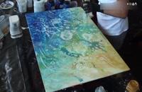 آموزش نقاشی سه بعدی _ آبستره ماهی