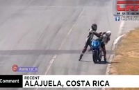 درگیری موتورسواران وسط مسابقات قهرمانی