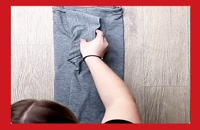 روش صحیح تاکردن لباس ها ، برای مسافرت.