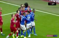 درگیری بازیکنان لیورپول و لسترسیتی پس از سوت پایان بازی