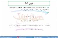 جلسه 39 فیزیک دوازدهم-حرکت با شتاب ثابت 7 تمرین 9 کتاب درسی- مدرس محمد پوررضا