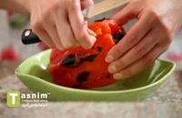 حمص فلفل قرمز دلمه ای | فیلم آشپزی