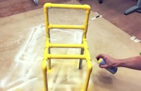ساخت میز و صندلی کودک با لوله پی وی سی