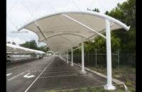 09380039293 پوشش چادری پارکینگ- سقف پارچه ای پارکینگ محوطه- سقف چادری پارکینگ حیاط
