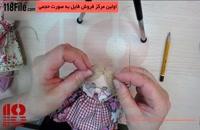 نقاشی صورت عروسک های روسی به همراه نصب مو