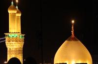فیلم های خام گنبد حرم امام حسین علیه السلام در شب 3