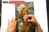 آموزش مرحله به مرحله نقاشی روی شیشه