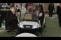 گفت و گوی ملک سلمان و پوتین در ماشین برقی