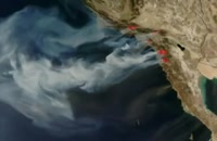 NASA Satellite Images of California Wildfires: 10/25 Update