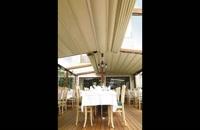 حقانی 09380039391-سقف جمع شونده حیاط رستوران- سقف بازشونده تراس رستورن