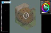آموزش  مرحله به مرحله مبتدی طراحی جعبه سوال برای بازی - نقاشی دیجیتال | گرافیک بازی