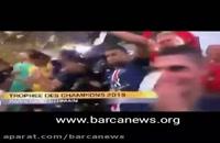 حواشی جشن قهرمانی پاری سن ژرمن درگیری امباپه با نیمار  | نیمار