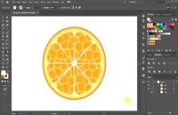 آموزش درست کردن پرتغال در Adobe Illustrator