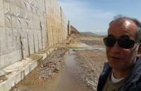 کرگیری از دیوار حائل / پایانه مرزی تمرچین