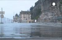 جزرومد بزرگ قرن در سواحل غربی فرانسه