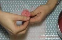 شمع سازی با قالب - گل رز