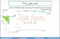 جلسه 50 فیزیک دوازدهم - حرکت با شتاب ثابت 18 تست ریاضی خ 98 - مدرس محمد پوررضا