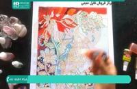کشیدن طرح نقاشی بلبل بهاری روی شیشه برای زیبایی پنجره