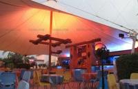 09380039293 سایه بان پارچه ای رستوران سنتی- سقف پارچه ای فوت کورت