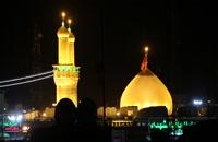 فیلم های خام گنبد حرم امام حسین علیه السلام در شب 1