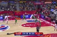 فیلم خلاصه بسکتبال کانادا - سنگال در جام جهانی