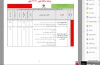 دانلود برنامه سالانه براساس طرح  تدبیر تحصیلی  1399-98 بصورت word و قابل تغییر