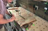 ساخت میز چوبی با رزین اپوکسی _ 09130919446