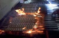 از ابتدا تا انتهای پخت کباب کوبیده با دستگاه کباب گیر|کباب زن|کباب سیخ گیر اتوماتیک پویا صنعت