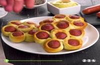 روش های جالب از ترکیب خمیر پیتزا و سوسیس برای پخت سوسیس