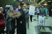 اجرای متفاوت مردان و زنان نقرهای در ایستگاههای مترو