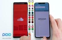 مقایسه سرعت iphone و samsung