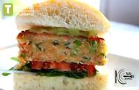 برگر سالمون   فیلم آشپزی