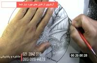 طراحی سه بعدی دایناسور روی چرم