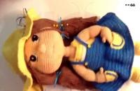 آموزش عروسک بافتنی با دو میل