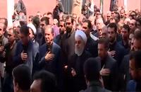 دسته  عزاداری با حضور رئیسجمهور (روحانی)